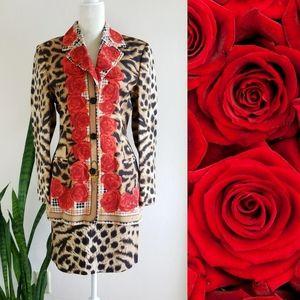 VTG 90s Laurèl Wool + Silk Skirt Suit